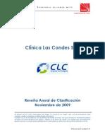 Clinica Las Condes Resena Anual Noviembre 2009