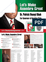 """Let's Make Anambra Great"" - Dr. Patrick Ifeanyi Ubah"