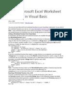 Using Microsoft Excel Worksheet Functions in Visual Basic