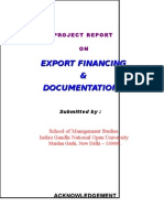 Export Financing Project 071203