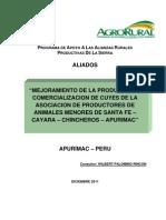 Produccion y Comercializacion de Cuy