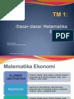 TM1 Dasar Dasar Matematika Ekonomi