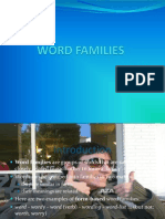 Word Families 1