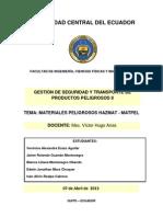 MATERIALES PELIGROSOS HAZMAT - MATPEL