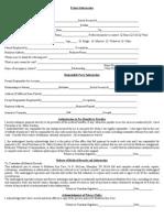 Patient info Form