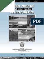005 Política Nacional Recurso Hidrico