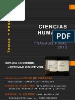 Ciencias Humanas 2013 Clase Introductoria