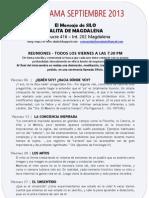 El Mensaje de SILO - Salita de MAGDALENA - Programa SEPTIEMBRE 2013