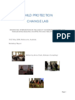 Child Protection Change Lab Workshop Report, June 2009