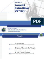 Analisis Instrumen UV-Vis