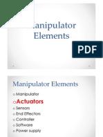 Industrial Robotics - Manipulator Elements