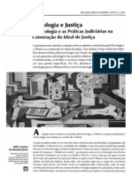 Psicologia e Justica Psicologia e as Praticas Judiciarias Na Construcao Do Ideal de Justica