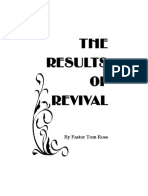 The Results of Revival by Tom Ross | Repentance | Sin