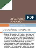 DURAÇÃO DO TRABALHO