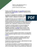 EL MÉTODO CIENTÍFICO COMO MÉTODO PARA LA ELIMINACIÓN DE FALACIAS Y PREJUICIOS