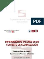 SUPERVISIÓN DE VALORES EN UN CONTEXTO DE GLOBALIZACIÓN