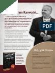 Adam Karwoski --Speaker Yearbook Insert --2013