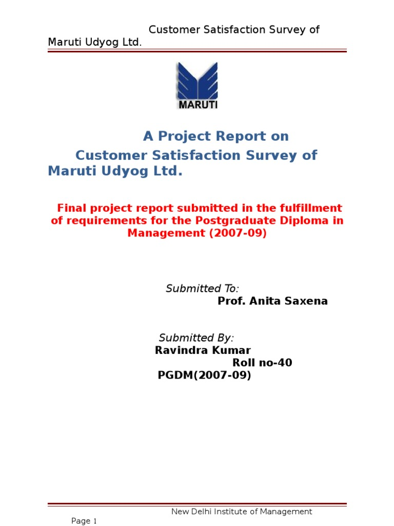 project on customersatisfaction towards airtel A study to identify the retail penetration level of airtel customer satisfaction towards project-report 331 study-on-customer-perception.