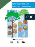 CITES Identification Guide Tropical Woods Guía de identificación de las maderas tropicales protegidas por la Convención sobre  el Comercio International de Especies Amenazadas de Fauna y Flora Silvestres
