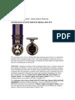Dads Medals Vietnam QANTAS 707