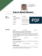 Curriculum Luis Aburto Romero