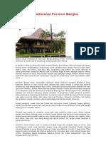 Arsitektur Tradisional Provinsi Bangka Belitung