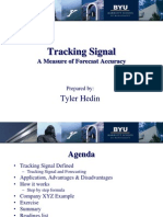 Tracking Signal in Forecasting
