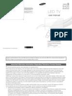 Samsung Series 6 LED TV Manual[UD6400-ZA]