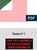 Tema 1 . Fisicoquimica II - Cinetica I