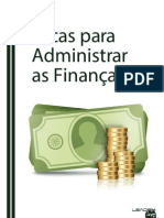 eBook Dicas Para Administrar as Financas