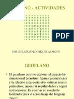 GEOPLANO - ACTIVIDADES