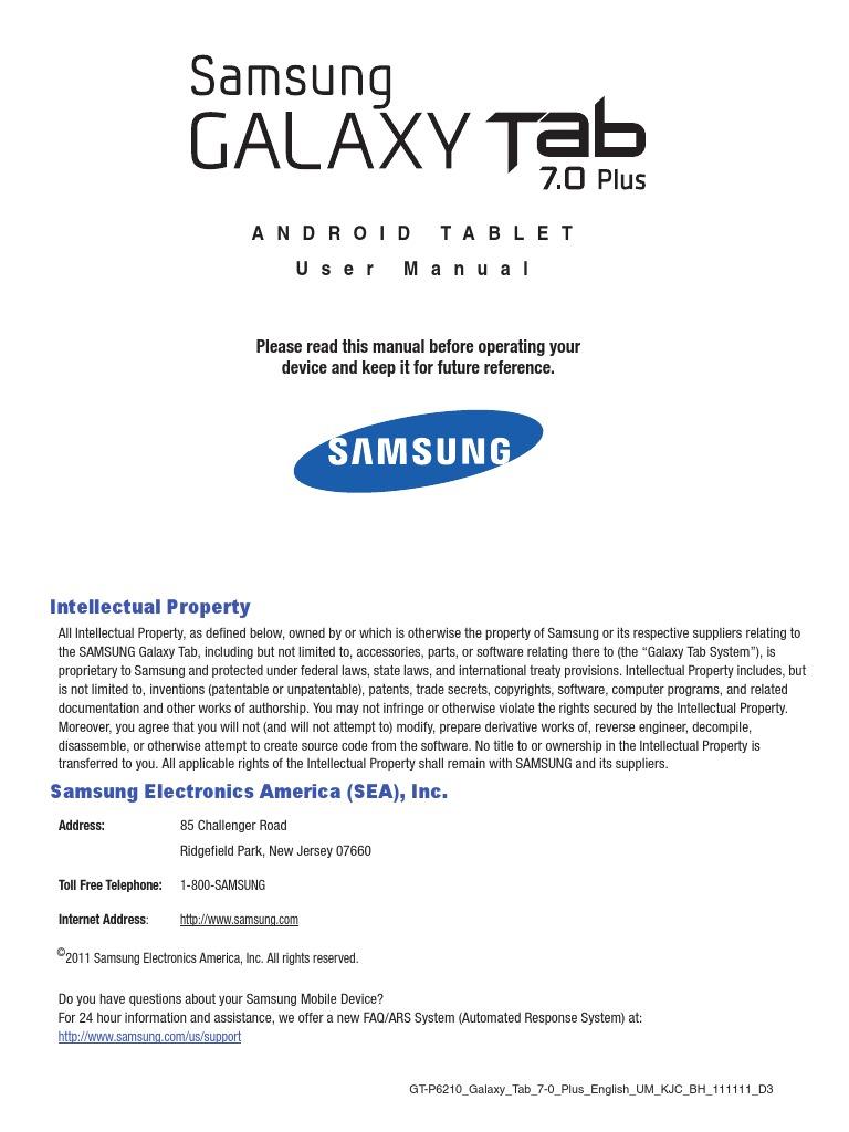 User Manual Guide Samsung Galaxy Tab 3 8 0 | Gmail | Usb