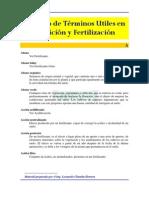 Glosario de Nutricion y Fertilizacion