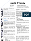 Tenancy Fact Sheet Access and Privacy