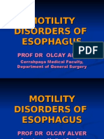 Motility Disorders of Esophagus