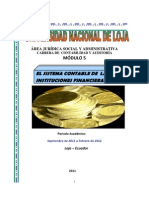 Modulo 5 El Sistema Contable de Las Instituciones Financieras 2011-2012