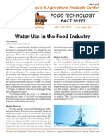 Water Use in Food Industry