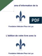 L'édition de votre livre avec la Fondation littéraire Fleur de Lys