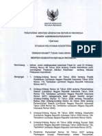 PMK No. 1438 Tentang Standar Pelayanan Kedokteran