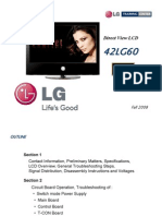 LG Flat TV 42LG60 Manual de Entrenamiento