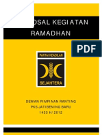 Proposal Kegiatan Ramadhan 1433 h