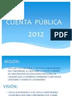 PRESENTACIÓN  2012 modificada
