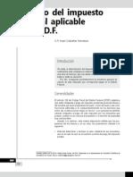 Cálculo del impuesto predial aplicable en el DF