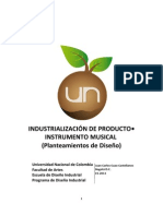 1- Industrializacion de producto - Planteamientos de Diseño