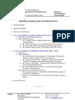 (ADM-06) Convergence WG Agenda