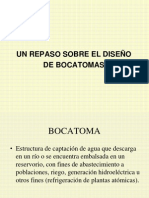 UN REPASO SOBRE DISEÑO DE BOCATOMAS