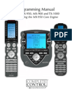 MX950 MX900 TX1000 Programming Manual