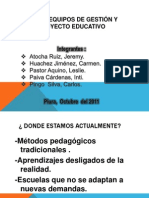 EQUIPOS DE GESTIÓN Y PROYECTO EDUCATIVO