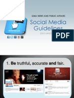 GMA Social Media Guidelines