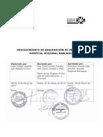 APF 1.2.2 Adquisicion de Insumos HRR V1-2013